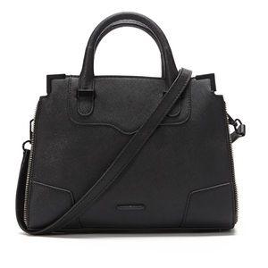 Rebecca Minkoff Amorous Black Satchel Purse Bag